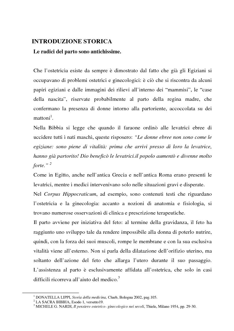 Anteprima della tesi: La formazione dell'ostetrica tra passato e presente. Dall'empirismo alla strutturazione di un curriculum - Il caso di Firenze, Pagina 3