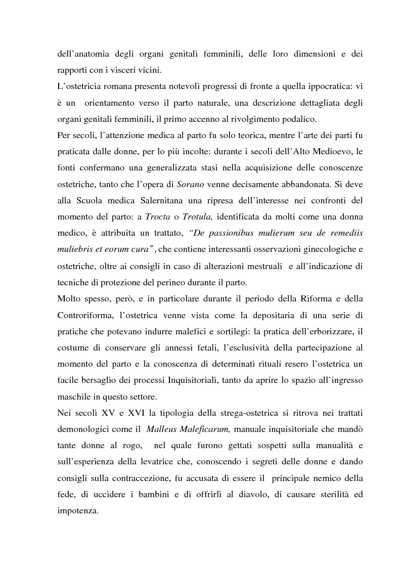 Anteprima della tesi: La formazione dell'ostetrica tra passato e presente. Dall'empirismo alla strutturazione di un curriculum - Il caso di Firenze, Pagina 5