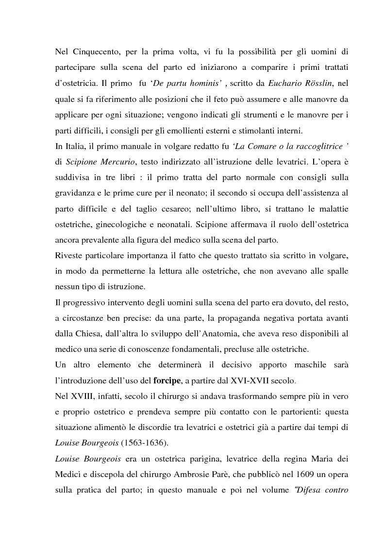 Anteprima della tesi: La formazione dell'ostetrica tra passato e presente. Dall'empirismo alla strutturazione di un curriculum - Il caso di Firenze, Pagina 6