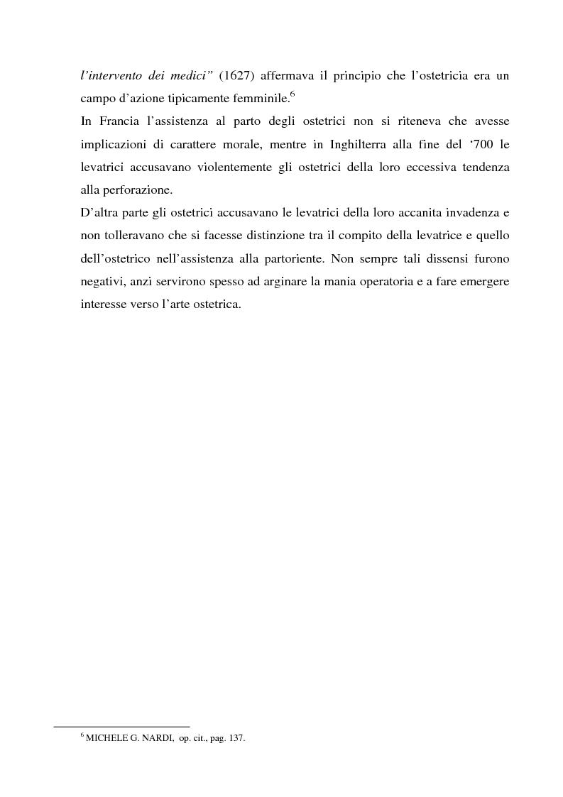 Anteprima della tesi: La formazione dell'ostetrica tra passato e presente. Dall'empirismo alla strutturazione di un curriculum - Il caso di Firenze, Pagina 7