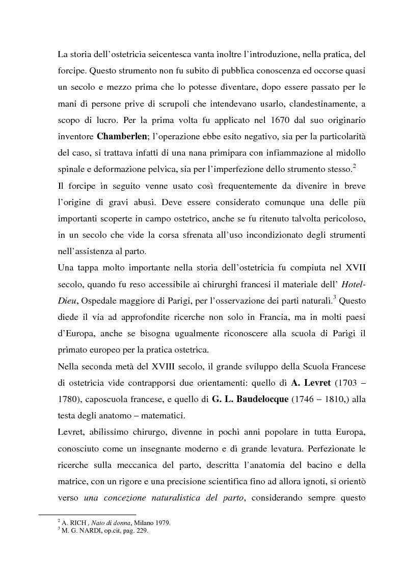 Anteprima della tesi: La formazione dell'ostetrica tra passato e presente. Dall'empirismo alla strutturazione di un curriculum - Il caso di Firenze, Pagina 9