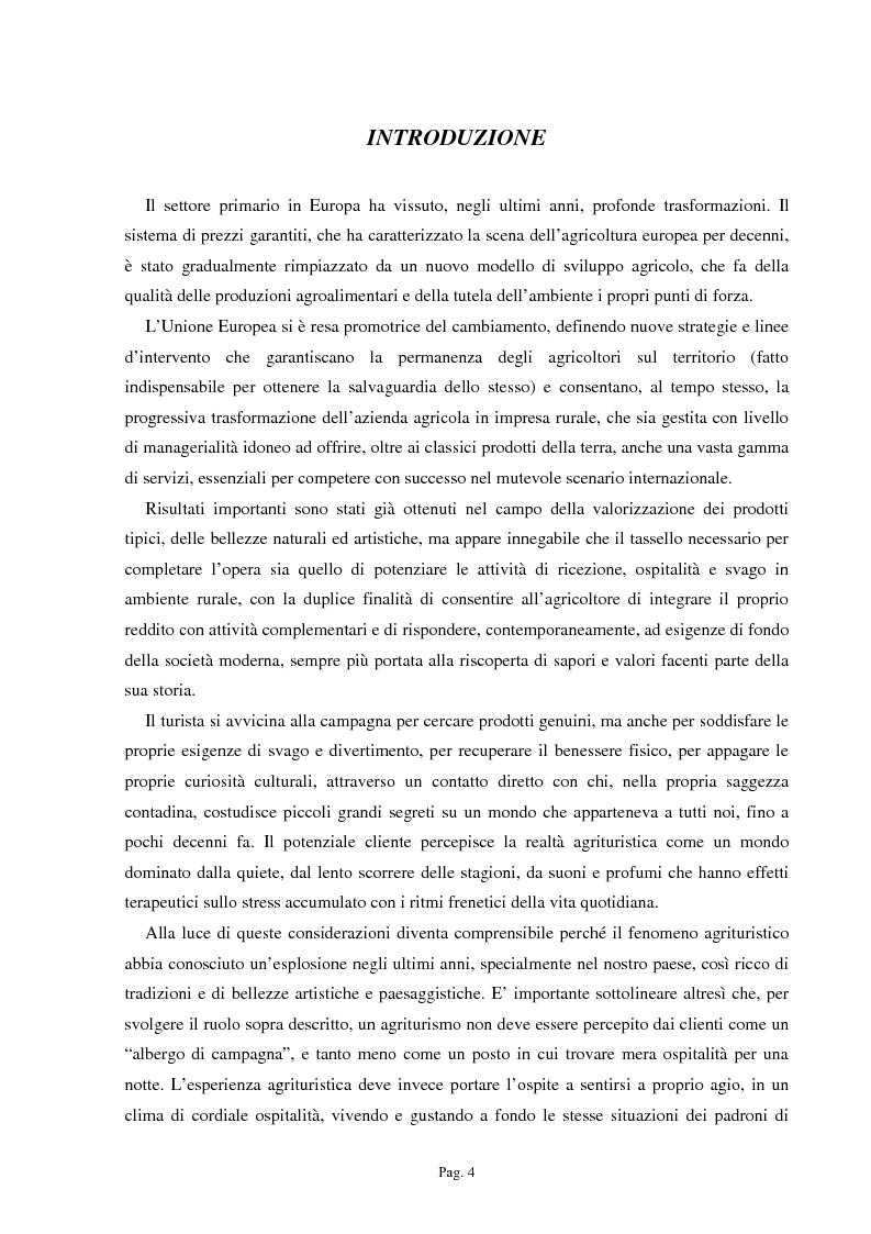Anteprima della tesi: Ipotesi per uno sviluppo sostenibile: l'agriturismo, Pagina 1
