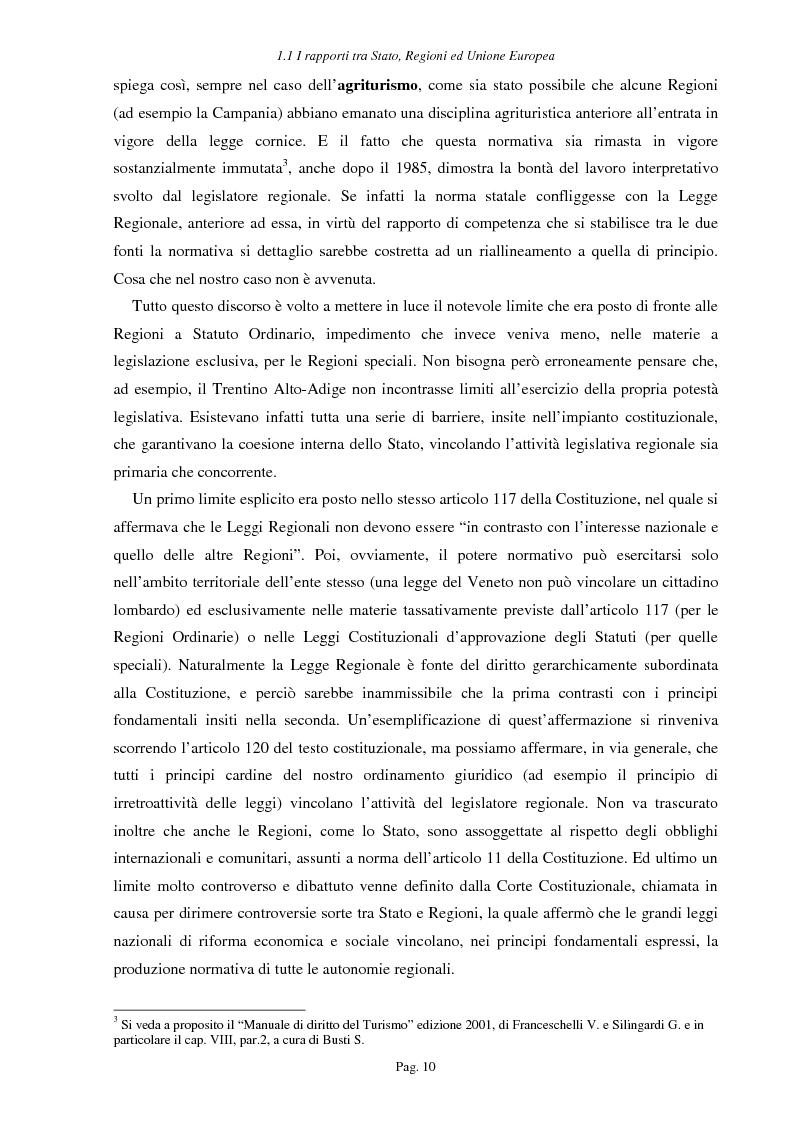 Anteprima della tesi: Ipotesi per uno sviluppo sostenibile: l'agriturismo, Pagina 7