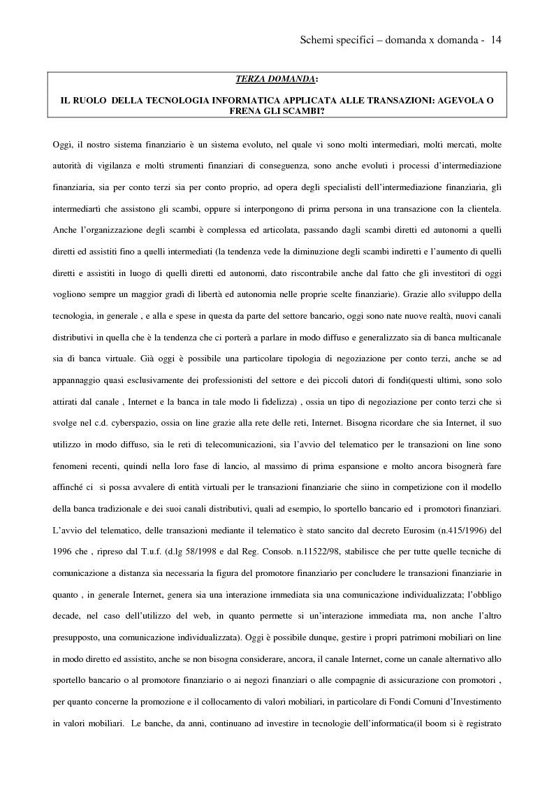 Anteprima della tesi: Internet e promotori finanziari nella gestione dei patrimoni mobiliari on line, Pagina 14