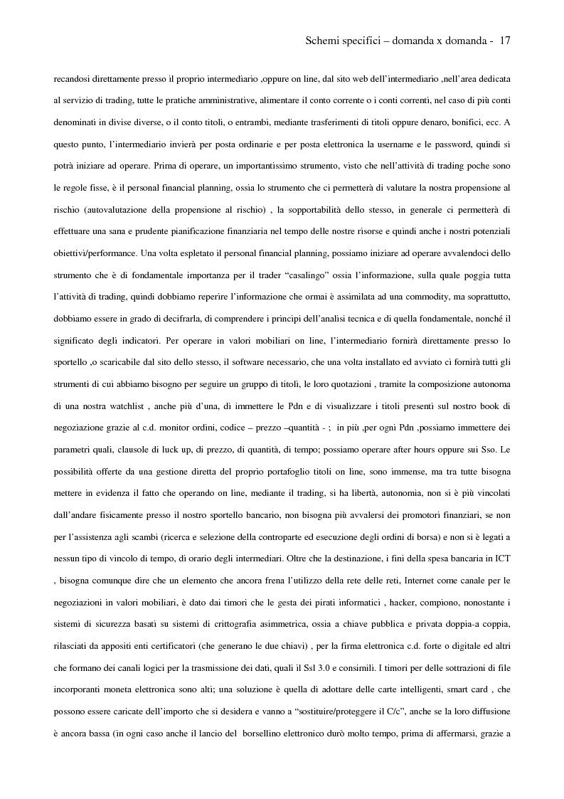 Anteprima della tesi: Internet e promotori finanziari nella gestione dei patrimoni mobiliari on line, Pagina 17