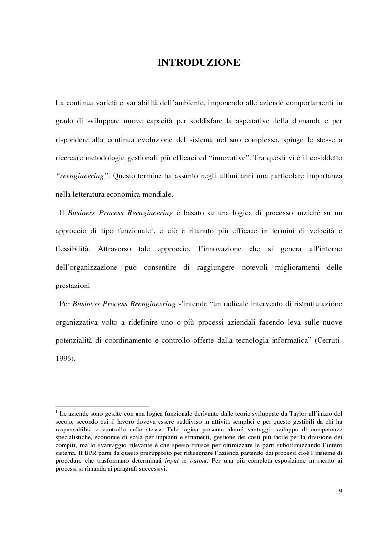 Anteprima della tesi: Business process reengineering: il caso delle aziende ospedaliere, Pagina 1