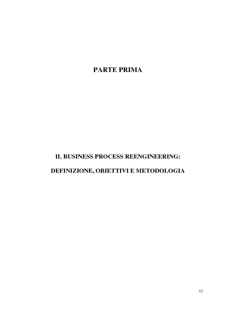 Anteprima della tesi: Business process reengineering: il caso delle aziende ospedaliere, Pagina 4