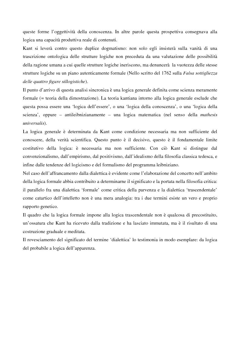 Anteprima della tesi: La logica formale e l'elaborazione del criticismo, Pagina 4
