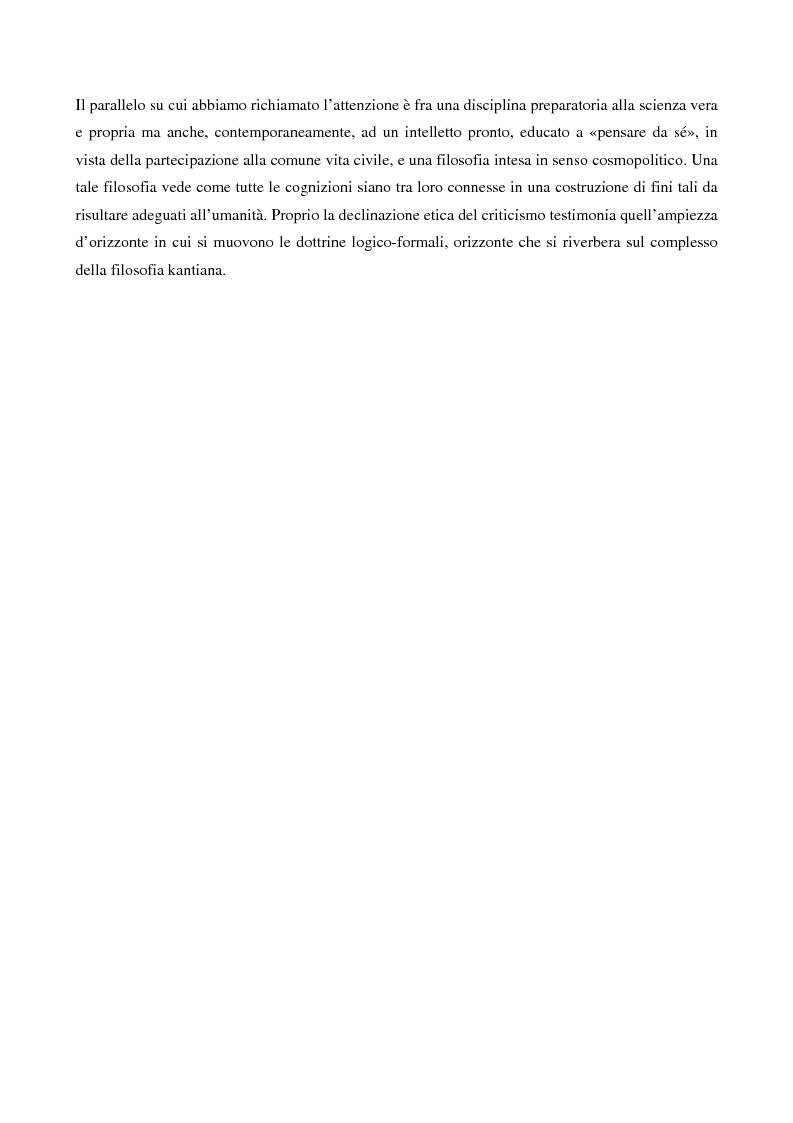 Anteprima della tesi: La logica formale e l'elaborazione del criticismo, Pagina 7