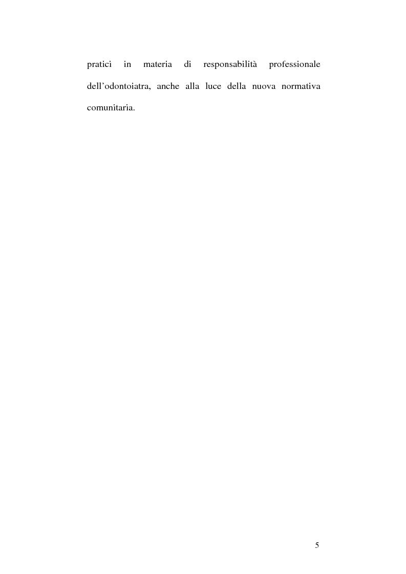 Anteprima della tesi: La responsabilità professionale dell'odontoiatra in ambito protesico, Pagina 2