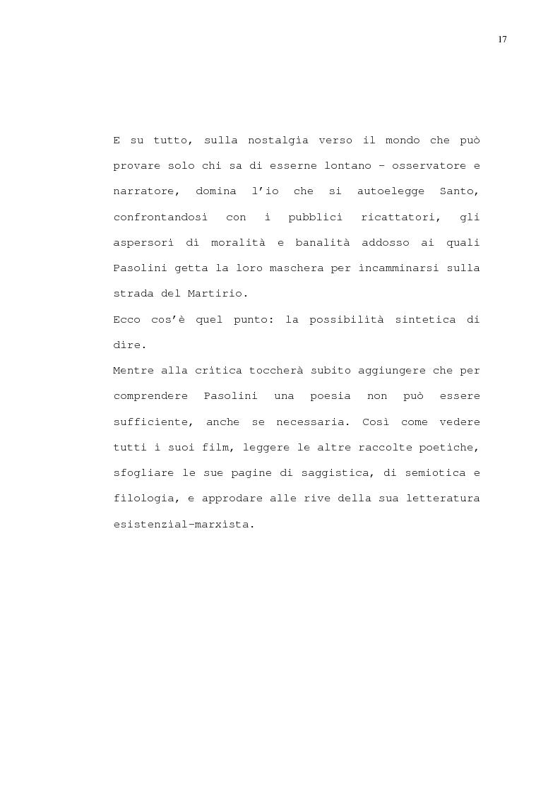 Anteprima della tesi: Pasolini - Il cinema della poesia, Pagina 14