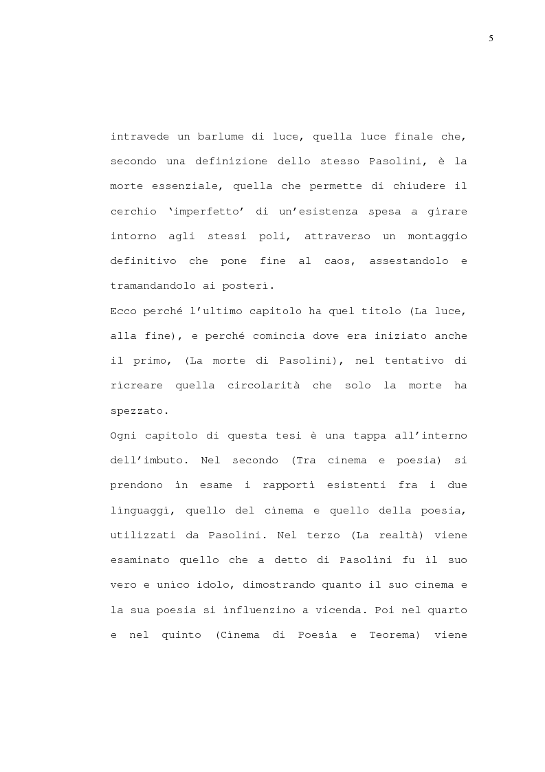 Anteprima della tesi: Pasolini - Il cinema della poesia, Pagina 2