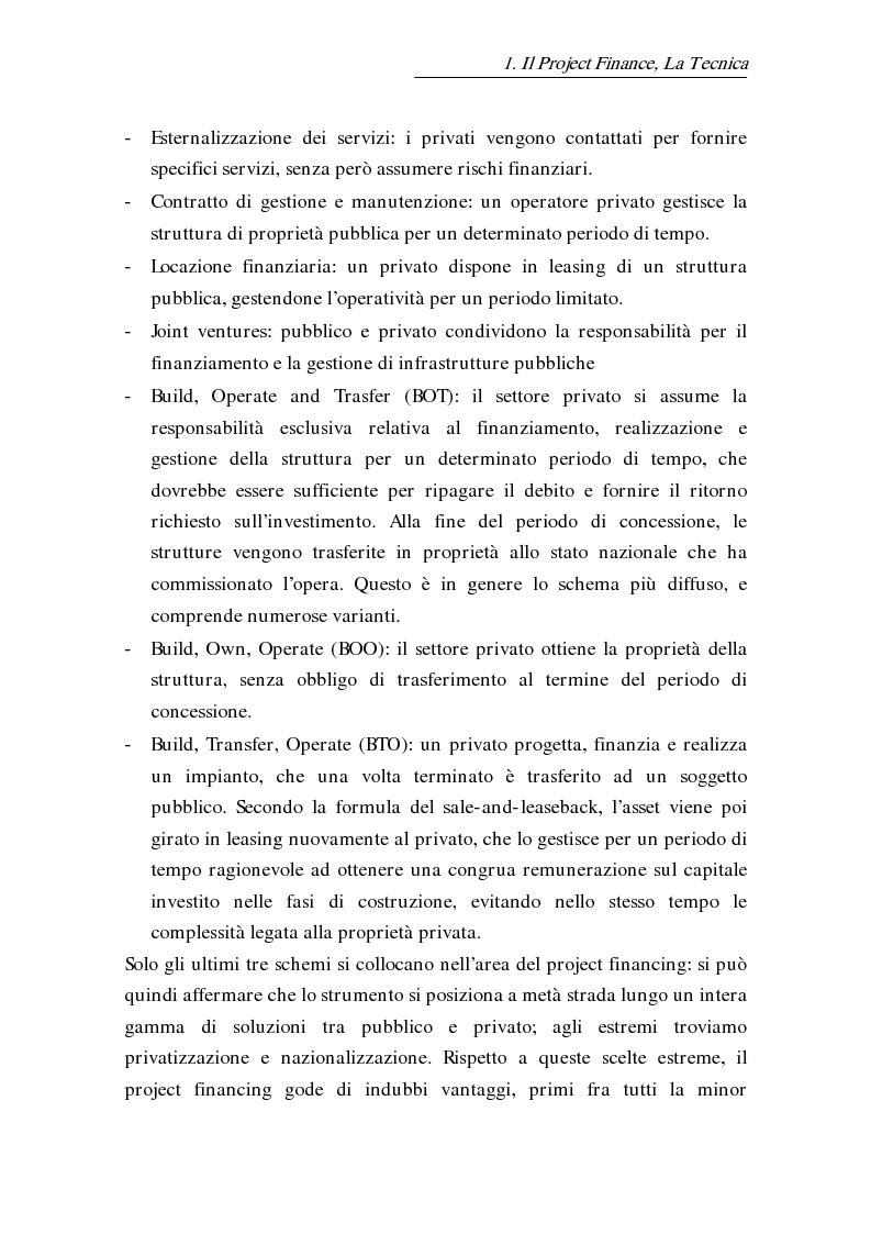 Anteprima della tesi: L'uso delle opzioni reali nella risk allocation della finanza di progetto: il caso degli investimenti su infrastrutture autostradali, Pagina 11