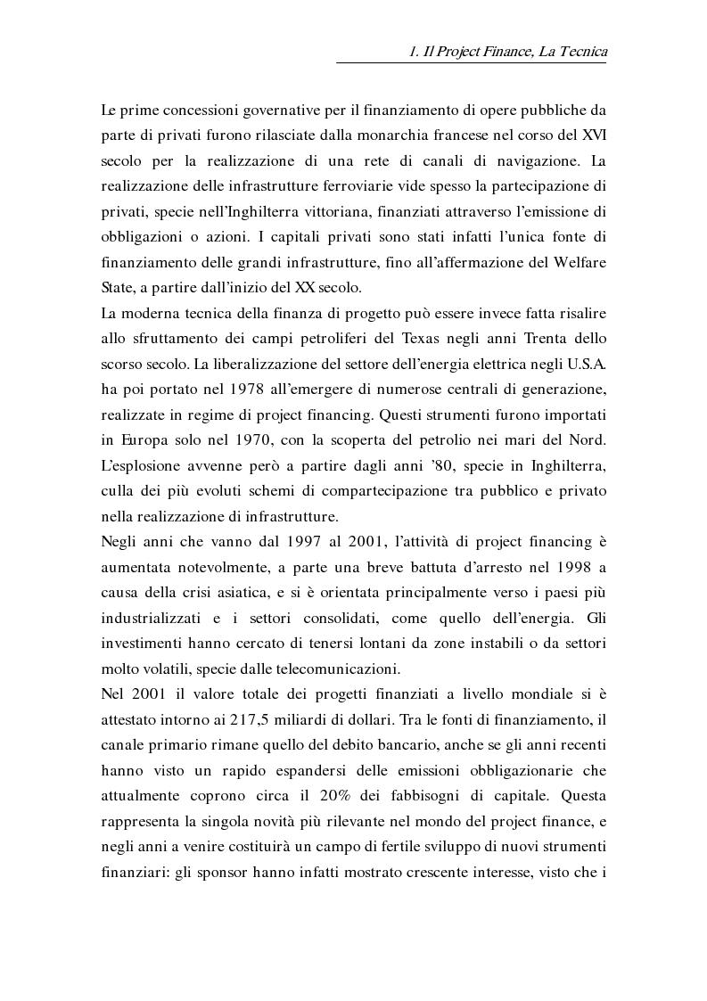 Anteprima della tesi: L'uso delle opzioni reali nella risk allocation della finanza di progetto: il caso degli investimenti su infrastrutture autostradali, Pagina 13