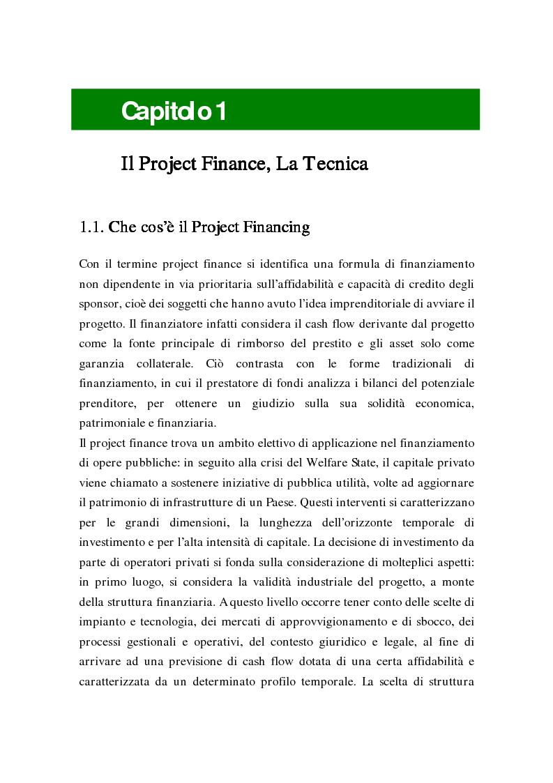 Anteprima della tesi: L'uso delle opzioni reali nella risk allocation della finanza di progetto: il caso degli investimenti su infrastrutture autostradali, Pagina 7