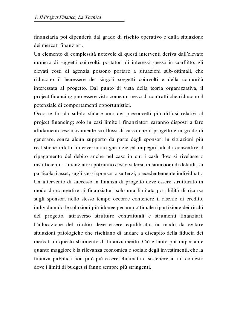 Anteprima della tesi: L'uso delle opzioni reali nella risk allocation della finanza di progetto: il caso degli investimenti su infrastrutture autostradali, Pagina 8