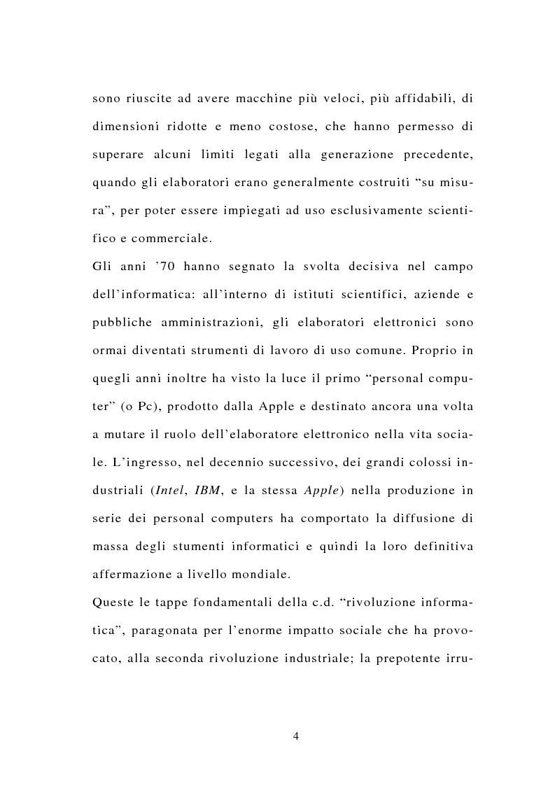 Anteprima della tesi: La stipulazione dei contratti on-line, Pagina 2