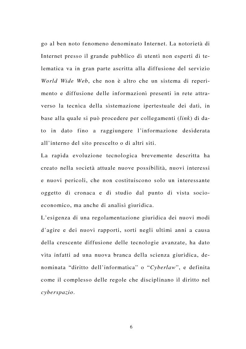 Anteprima della tesi: La stipulazione dei contratti on-line, Pagina 4