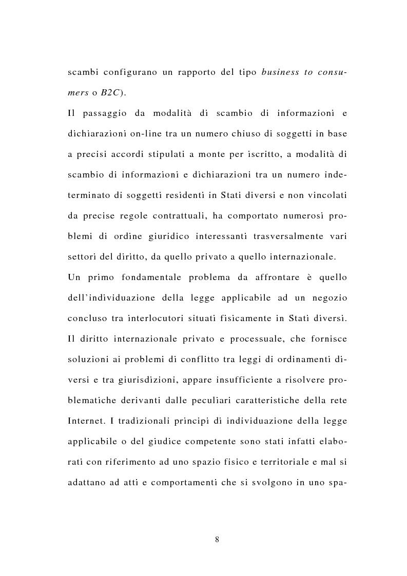Anteprima della tesi: La stipulazione dei contratti on-line, Pagina 6