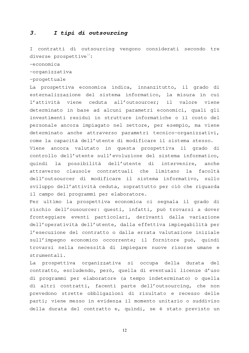 Anteprima della tesi: Il contratto di outsourcing, Pagina 12