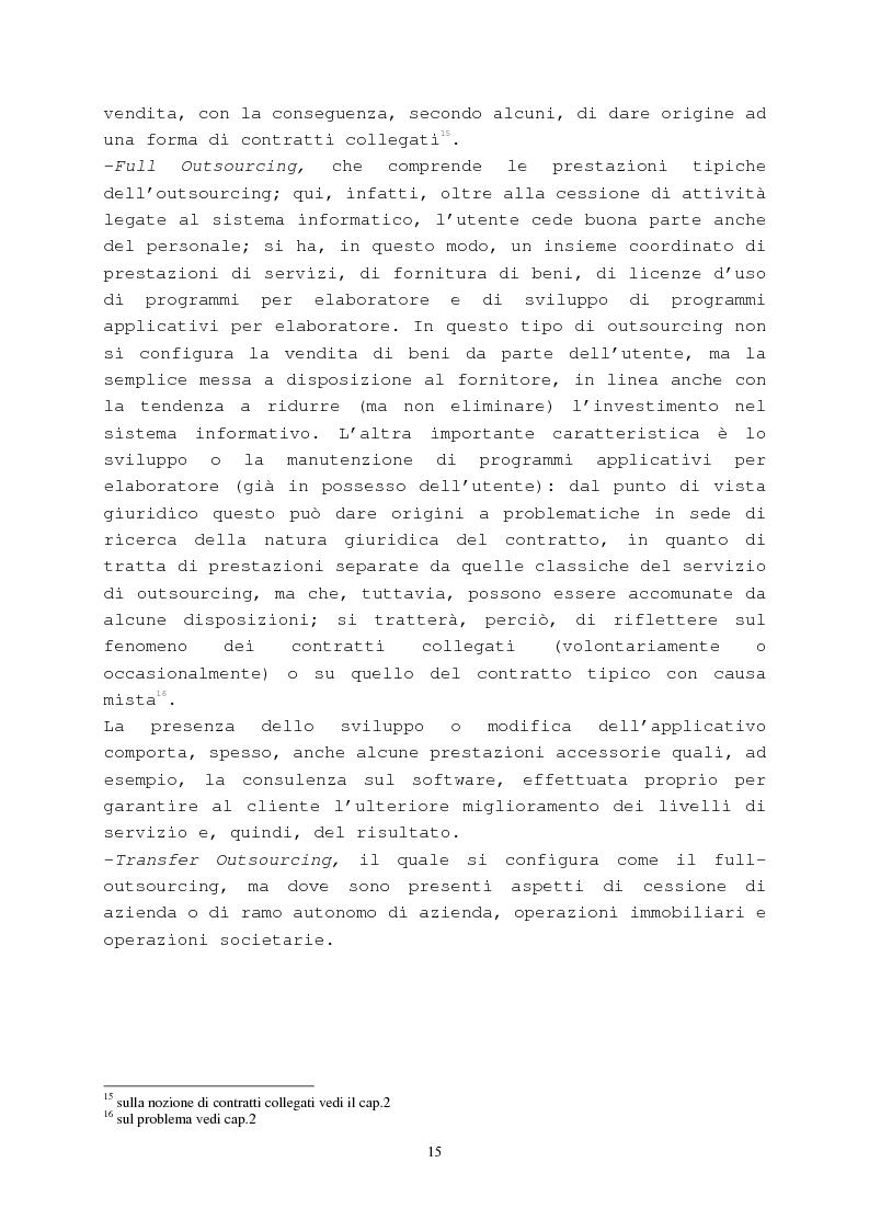 Anteprima della tesi: Il contratto di outsourcing, Pagina 15