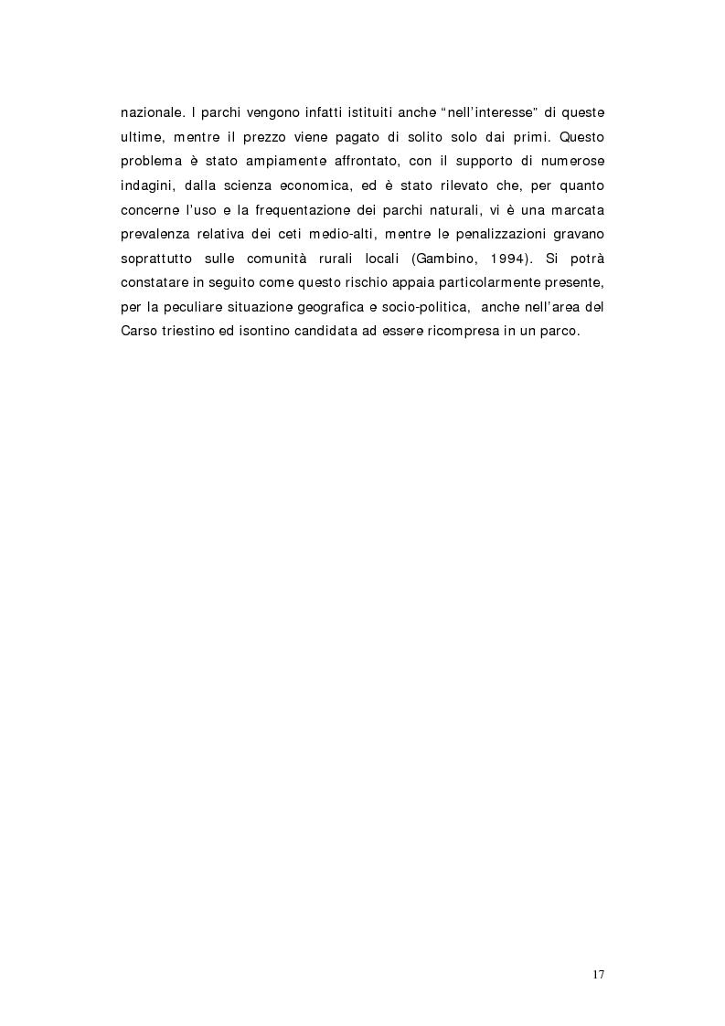 Anteprima della tesi: L'area protetta quale laboratorio di sostenibilità: il caso dell'istituendo Parco del Carso, Pagina 14