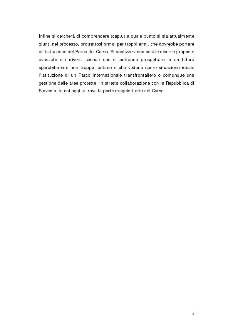 Anteprima della tesi: L'area protetta quale laboratorio di sostenibilità: il caso dell'istituendo Parco del Carso, Pagina 2