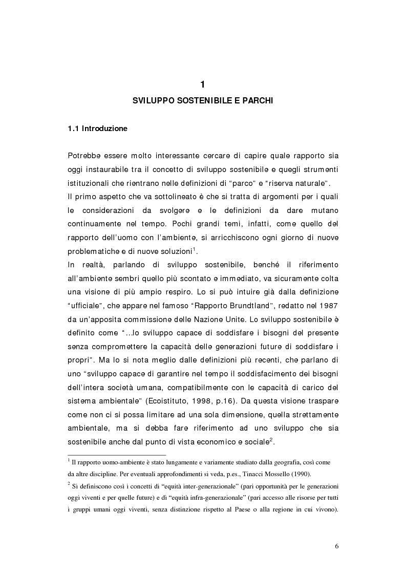 Anteprima della tesi: L'area protetta quale laboratorio di sostenibilità: il caso dell'istituendo Parco del Carso, Pagina 3