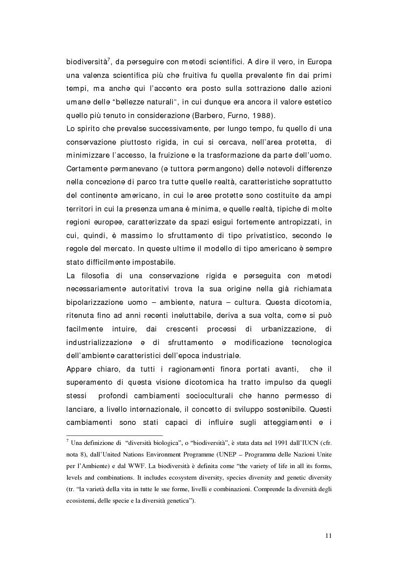 Anteprima della tesi: L'area protetta quale laboratorio di sostenibilità: il caso dell'istituendo Parco del Carso, Pagina 8
