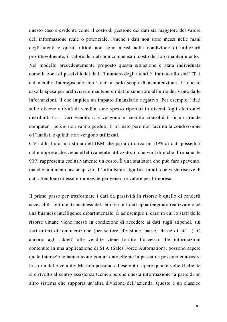 Anteprima della tesi: Crm: quando il successo dell'impresa passa per la conoscenza del cliente, Pagina 9