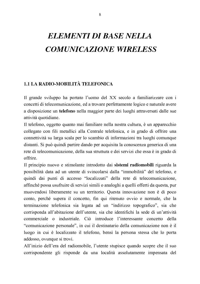 Anteprima della tesi: Rassegna critica sulle modalità di accesso alla wireless internet, Pagina 1