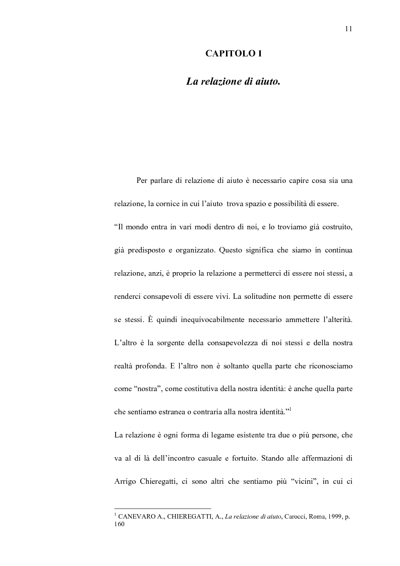 Anteprima della tesi: La professionalità dell'educatore nella relazione di aiuto ai malati terminali, Pagina 10