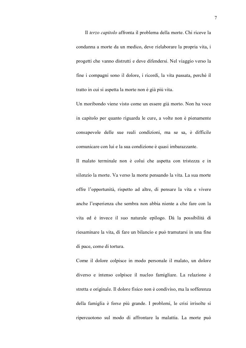 Anteprima della tesi: La professionalità dell'educatore nella relazione di aiuto ai malati terminali, Pagina 6
