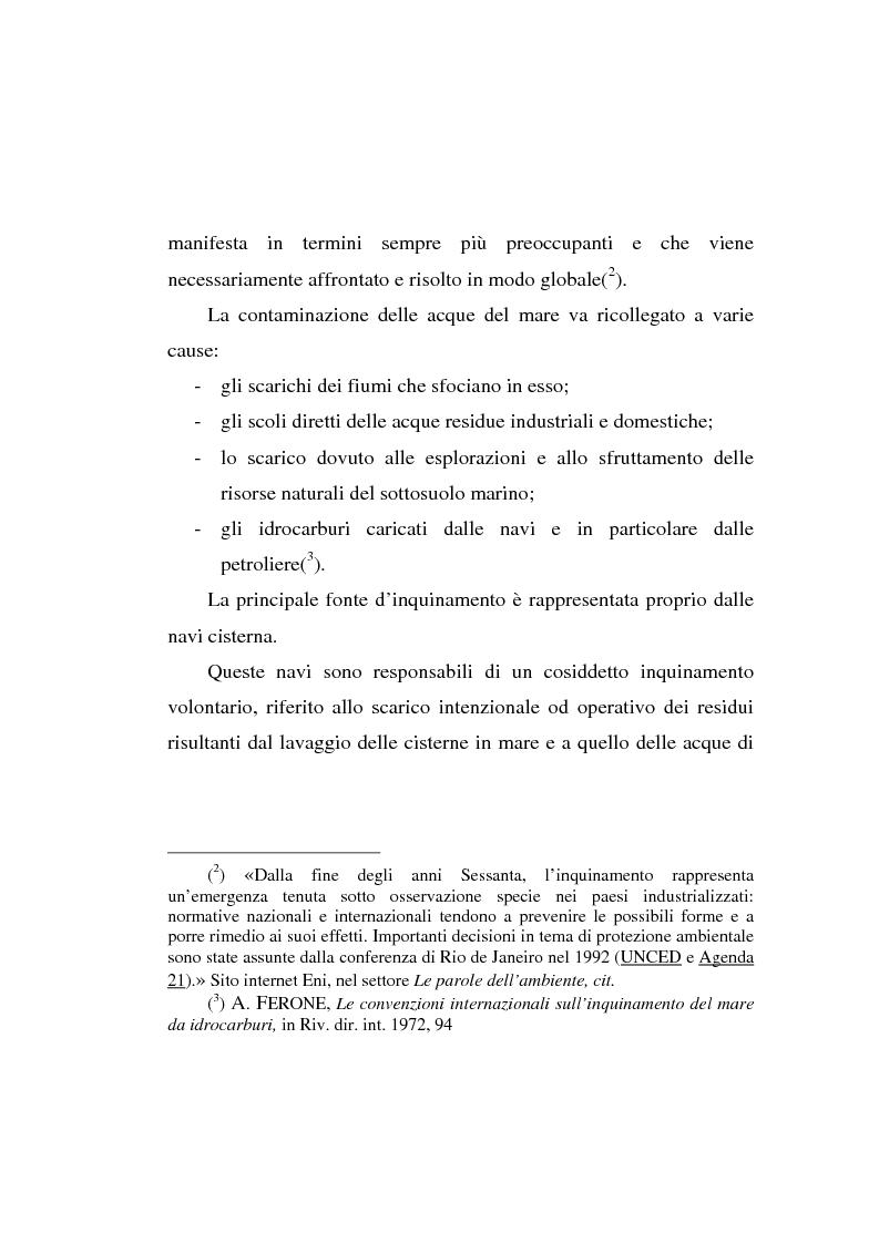 Anteprima della tesi: Lo spandimento in mare di idrocarburi, Pagina 2