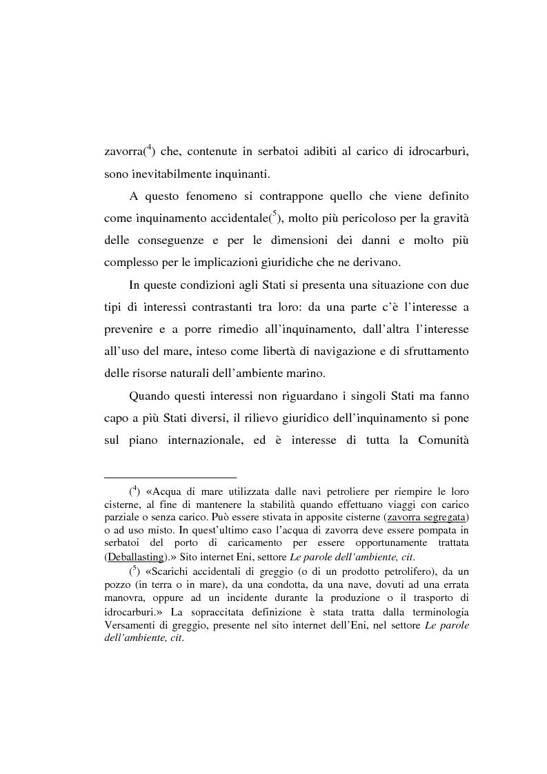 Anteprima della tesi: Lo spandimento in mare di idrocarburi, Pagina 3