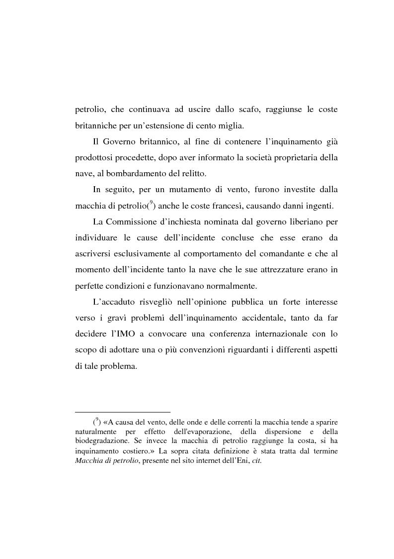 Anteprima della tesi: Lo spandimento in mare di idrocarburi, Pagina 6