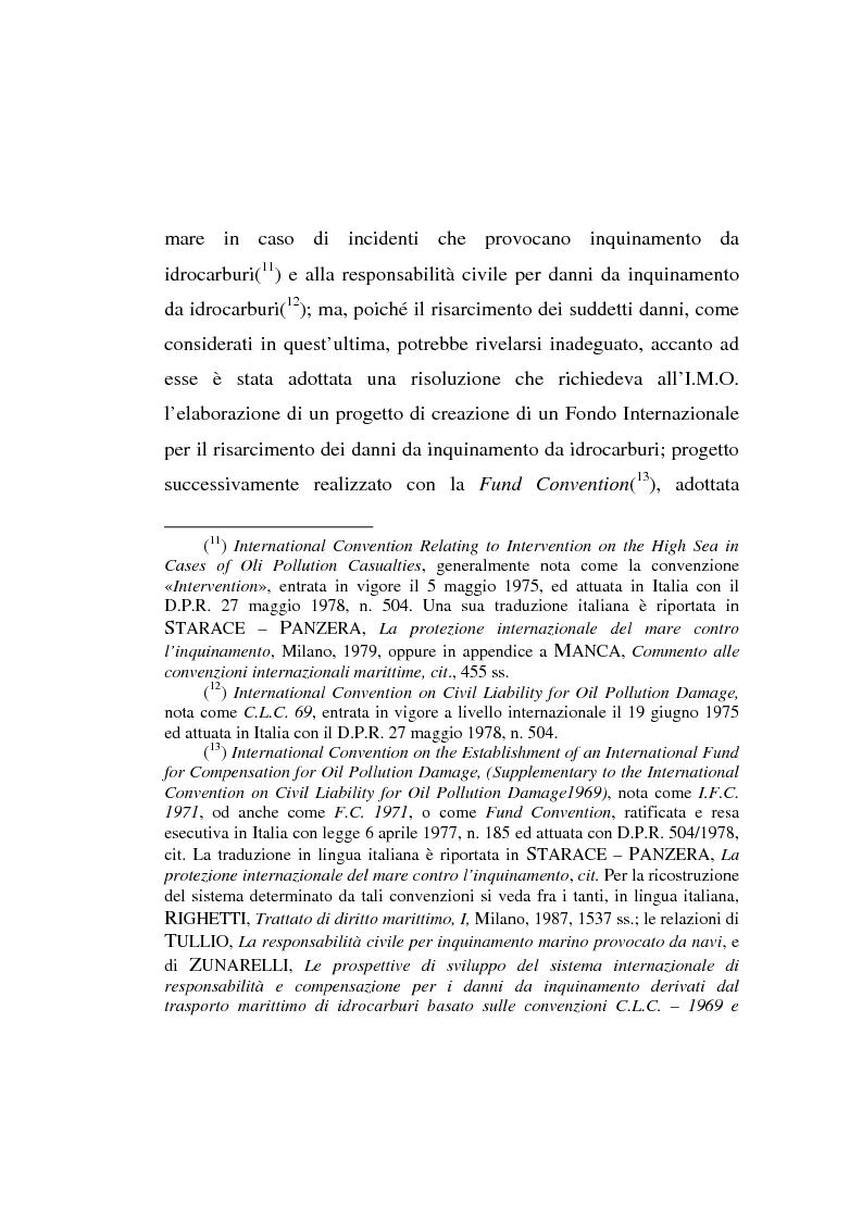 Anteprima della tesi: Lo spandimento in mare di idrocarburi, Pagina 8