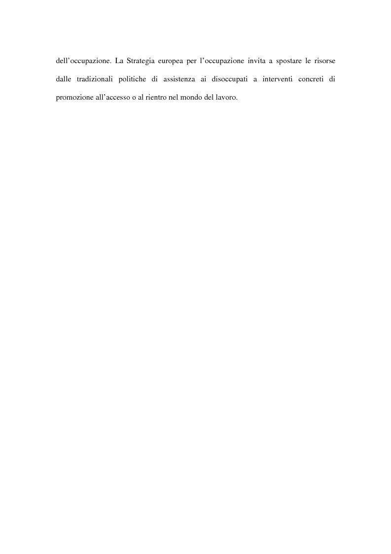 Anteprima della tesi: Progetti europei per l'occupazione e politiche sociali in Italia: un valore aggiunto, Pagina 11