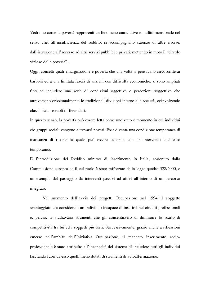 Anteprima della tesi: Progetti europei per l'occupazione e politiche sociali in Italia: un valore aggiunto, Pagina 6