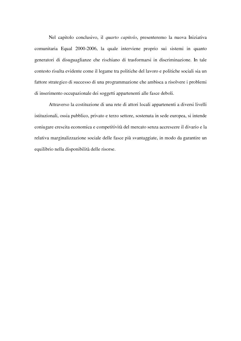 Anteprima della tesi: Progetti europei per l'occupazione e politiche sociali in Italia: un valore aggiunto, Pagina 7