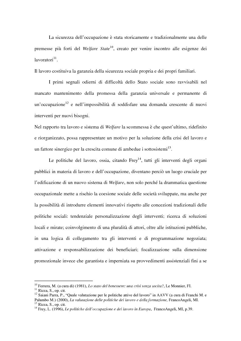 Anteprima della tesi: Progetti europei per l'occupazione e politiche sociali in Italia: un valore aggiunto, Pagina 9