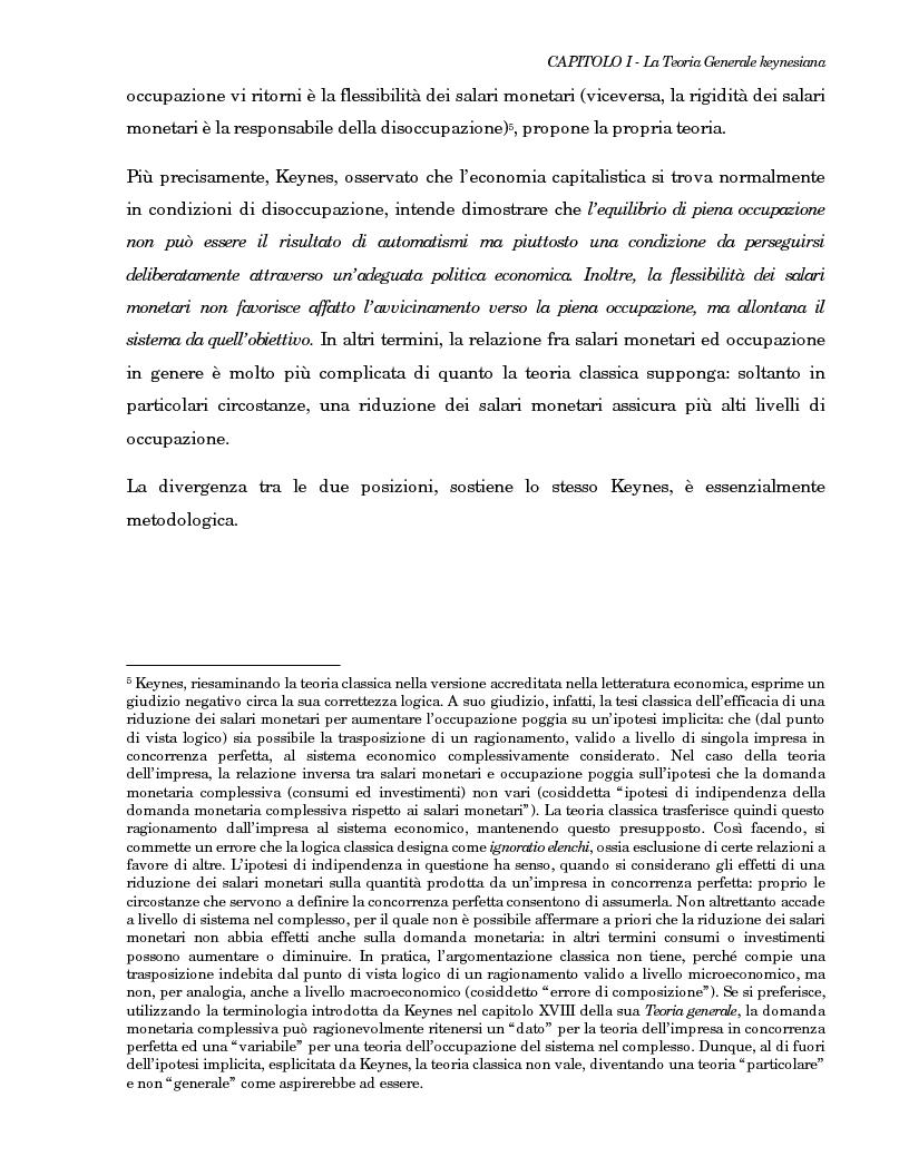 Anteprima della tesi: La teoria generale di Keynes: alcune reinterpretazioni ed attualità, Pagina 15