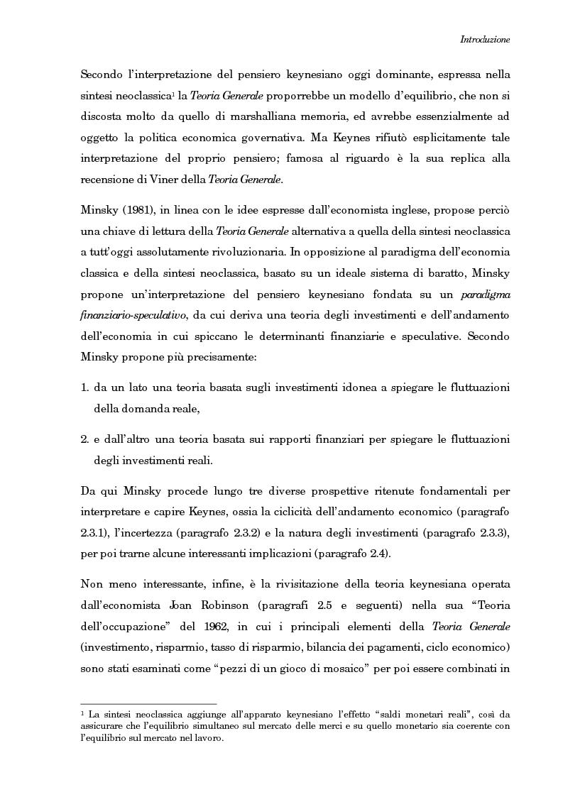 Anteprima della tesi: La teoria generale di Keynes: alcune reinterpretazioni ed attualità, Pagina 4