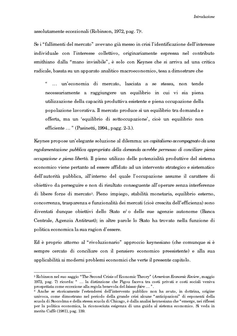 Anteprima della tesi: La teoria generale di Keynes: alcune reinterpretazioni ed attualità, Pagina 6