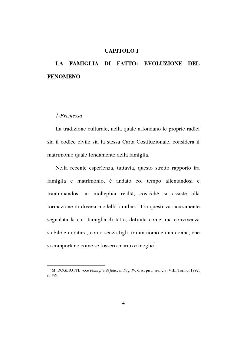 Anteprima della tesi: I diritti del convivente more uxorio: la disciplina normativa, Pagina 1