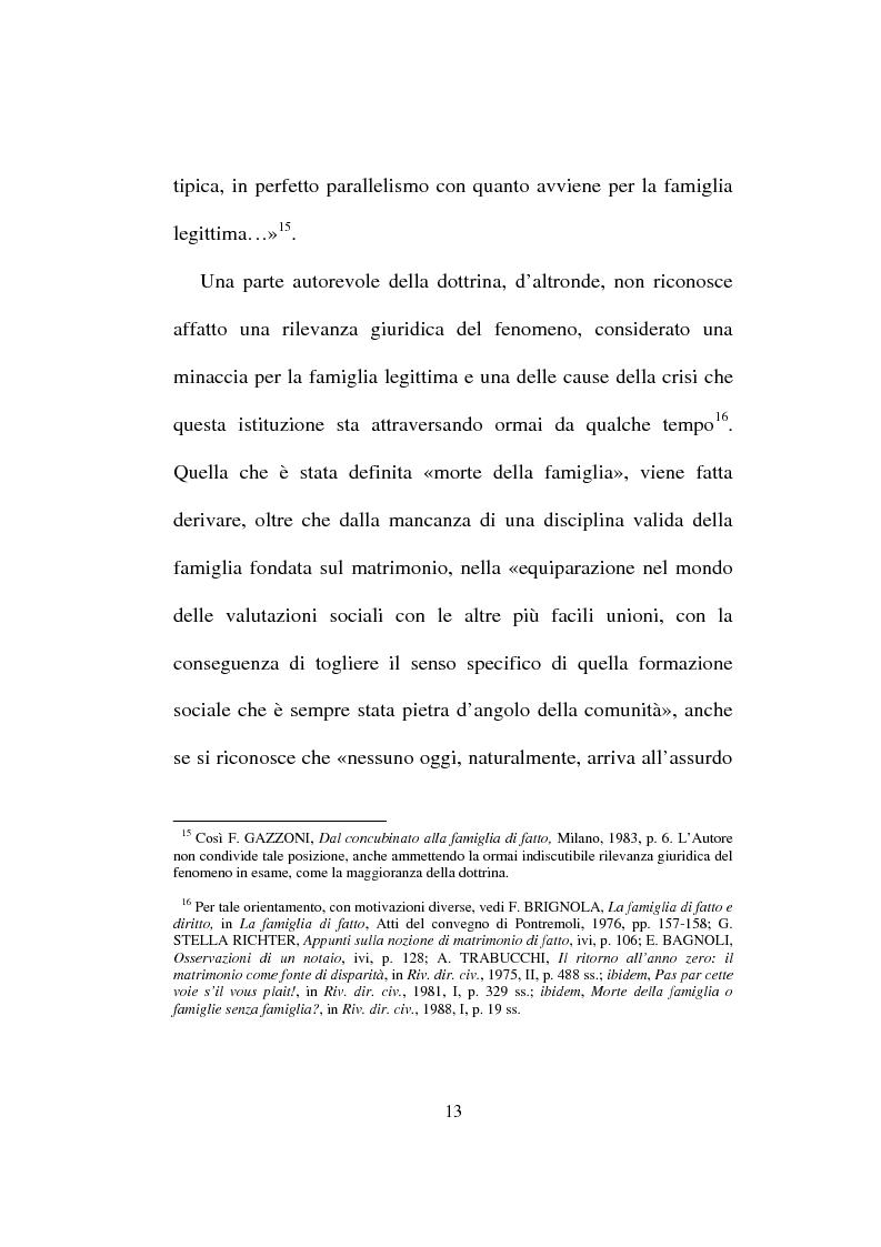 Anteprima della tesi: I diritti del convivente more uxorio: la disciplina normativa, Pagina 10
