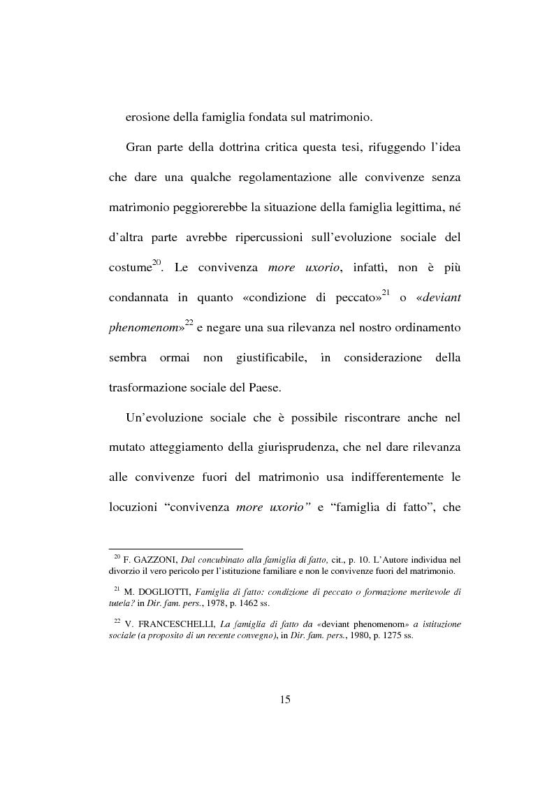 Anteprima della tesi: I diritti del convivente more uxorio: la disciplina normativa, Pagina 12
