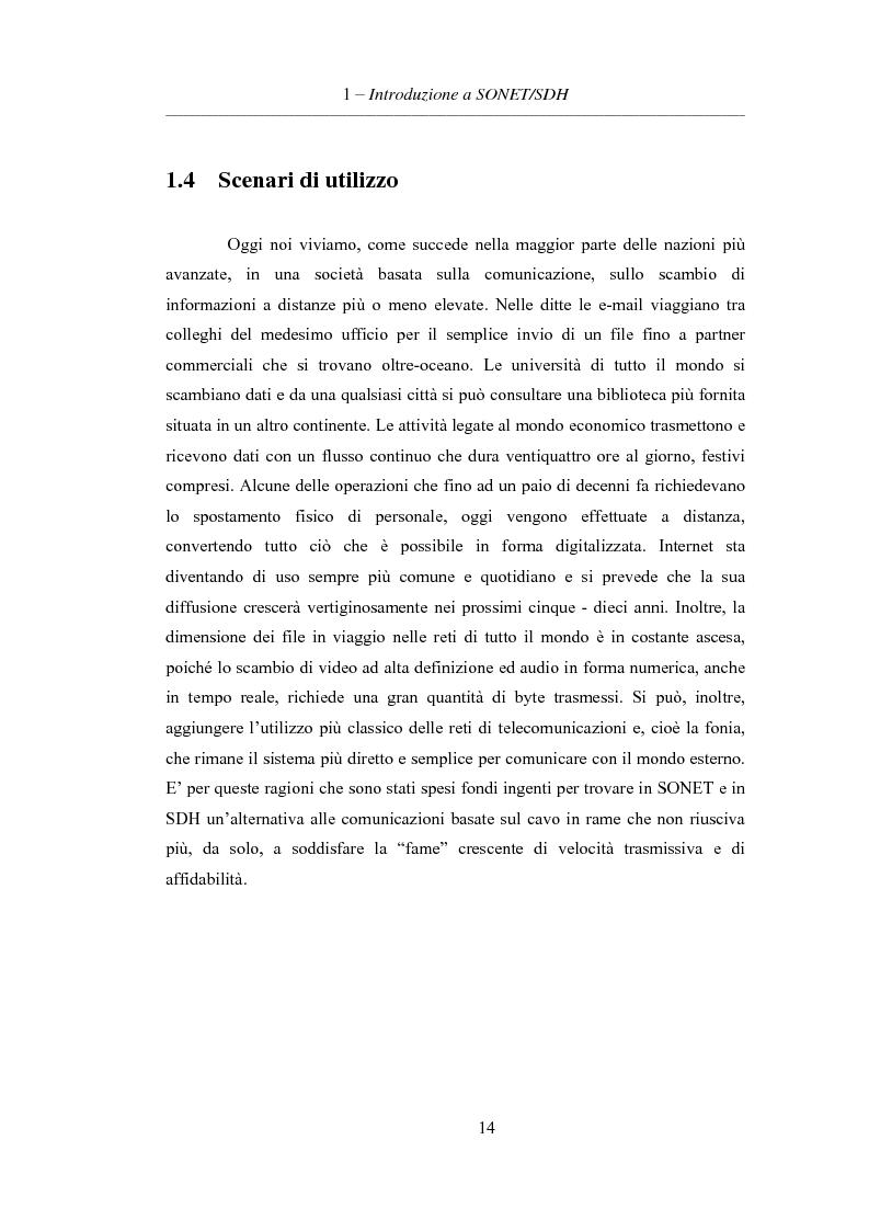 Anteprima della tesi: L'evoluzione delle reti di trasporto: da Sonet/Sdh a Dwdm, Pagina 10
