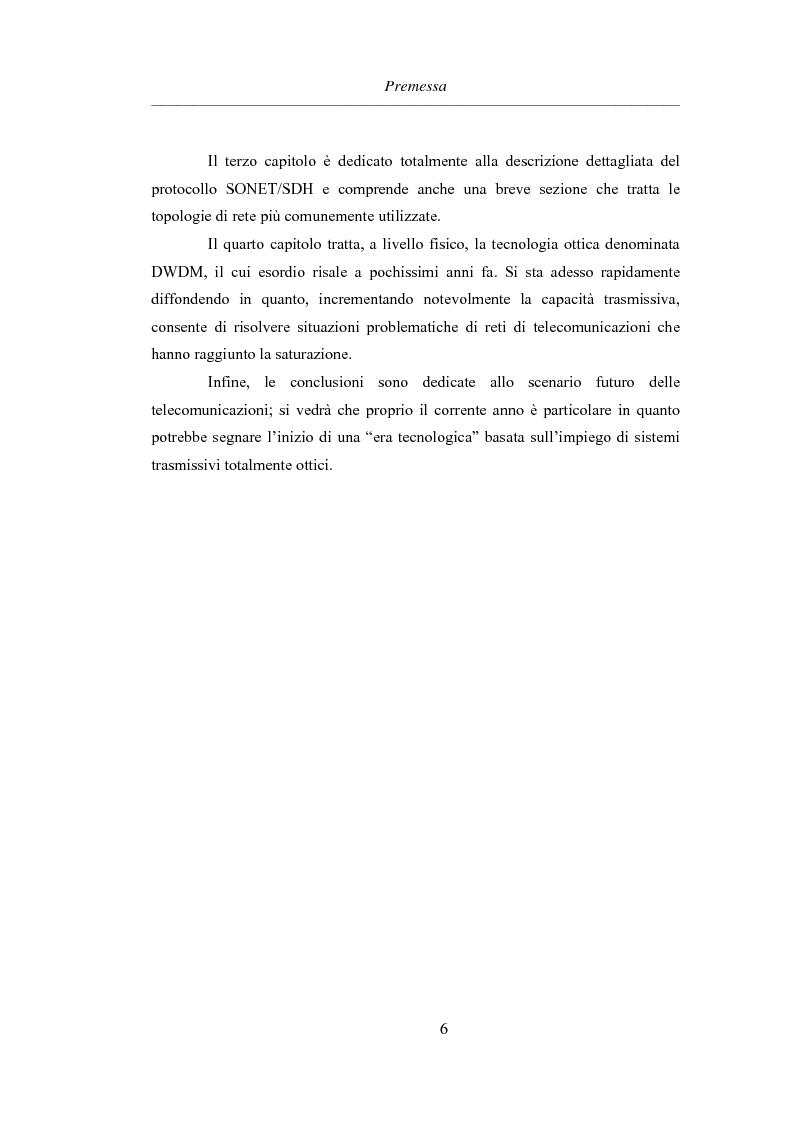 Anteprima della tesi: L'evoluzione delle reti di trasporto: da Sonet/Sdh a Dwdm, Pagina 2