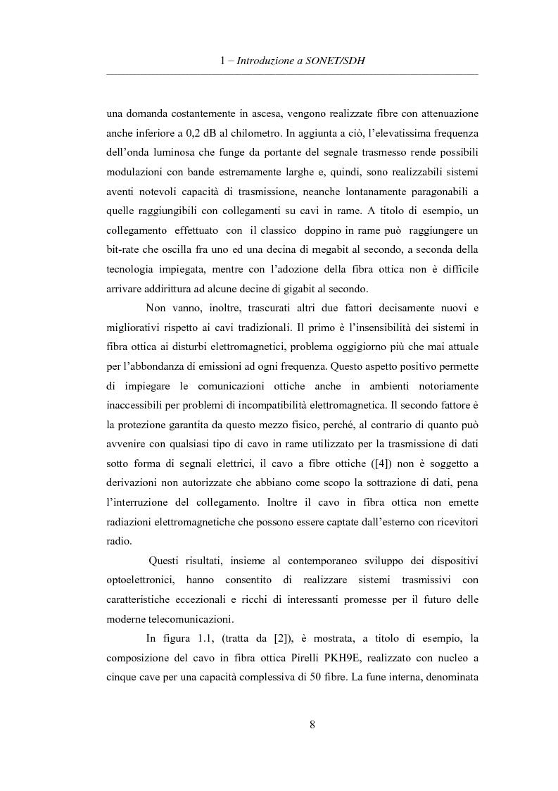 Anteprima della tesi: L'evoluzione delle reti di trasporto: da Sonet/Sdh a Dwdm, Pagina 4